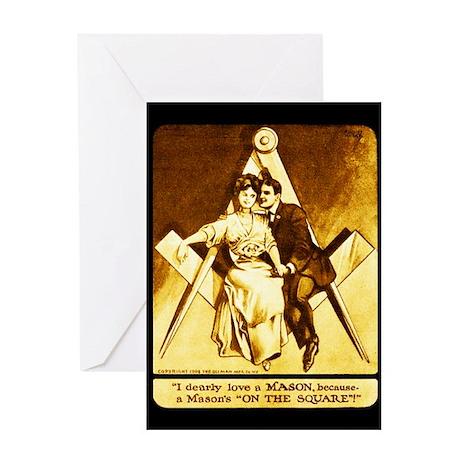 Freemason Valentine Wedding or Anniversary Card