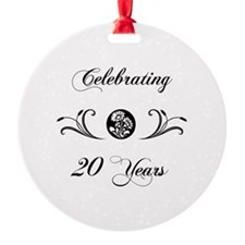 20th Anniversary (b&w) Ornament