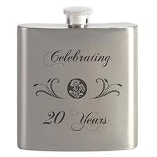 20th Anniversary (b&w) Flask