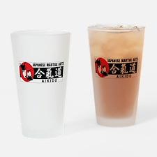 Aikido 2 Drinking Glass