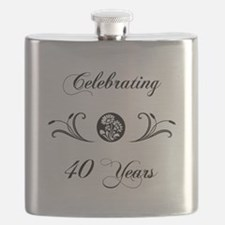 40th Anniversary (b&w) Flask