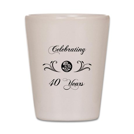 40th Anniversary (b&w) Shot Glass