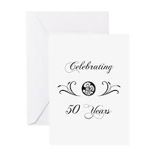 50th Anniversary (b&w) Greeting Card