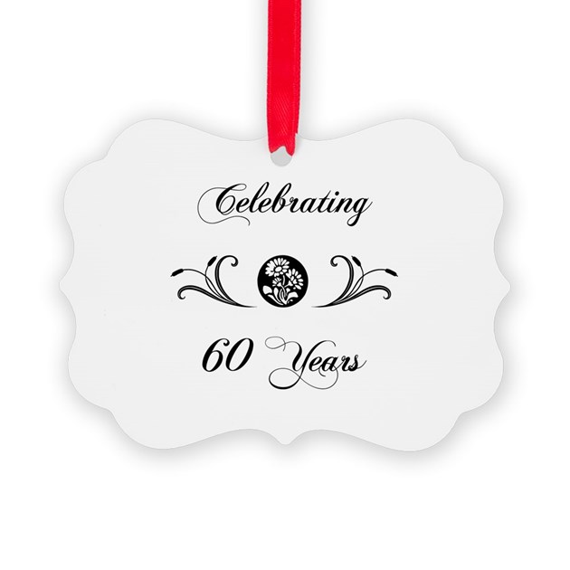 60th anniversary b w ornament by pixelstreetann - Color of th anniversary ...