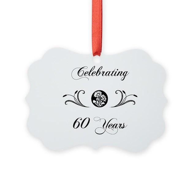 60th anniversary b w ornament by pixelstreetann - Color of th anniversary ...