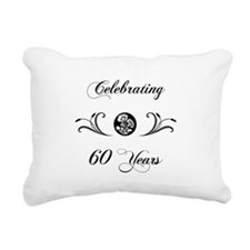 60th Anniversary (b&w) Rectangular Canvas Pillow
