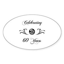 60th Anniversary (b&w) Decal