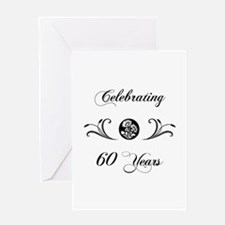 60th Anniversary (b&w) Greeting Card