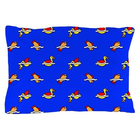 Ducks and Fishes Pillow Case