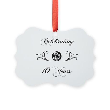 10th Anniversary (b&w) Picture Ornament