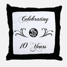 10th Anniversary (b&w) Throw Pillow