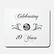 10th Anniversary (b&w) Mousepad