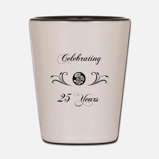 25th Anniversary (b&w) Shot Glass