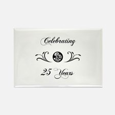 25th Anniversary (b&w) Rectangle Magnet