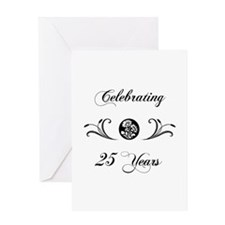 25th Anniversary (b&w) Greeting Card