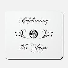 25th Anniversary (b&w) Mousepad