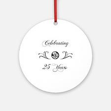 25th Anniversary (b&w) Ornament (Round)