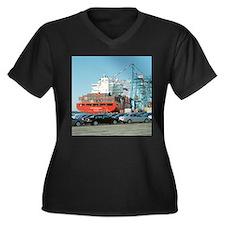 Container ship - Women's Plus Size Dark V-Neck T-S