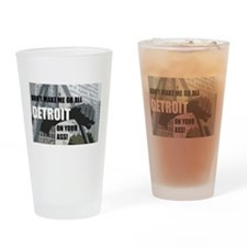 Cute Made in detroit Drinking Glass