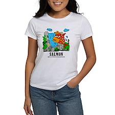 Cartoon Salmon by Lorenzo T-Shirt