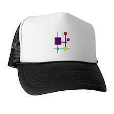 Geometric Rectangles Purple Trucker Hat
