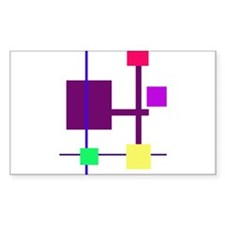 Geometric Rectangles Purple Decal