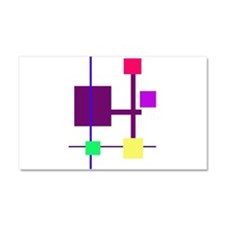 Geometric Rectangles Purple Car Magnet 20 x 12