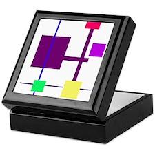 Geometric Rectangles Purple Keepsake Box