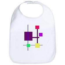 Geometric Rectangles Purple Bib