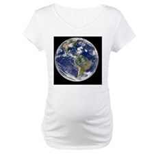 Earth with 5 hurricanes, satellite image - Materni