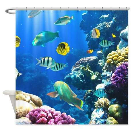 Exceptional Ocean Life Shower Curtain