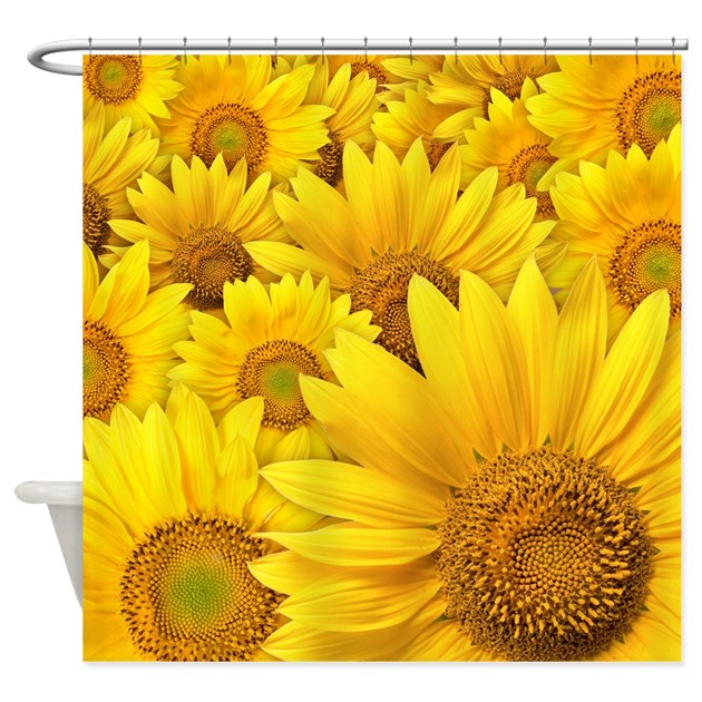 sunflowers shower curtain by bestshowercurtains. Black Bedroom Furniture Sets. Home Design Ideas