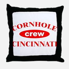 Cornhole Crew Cincinnati Throw Pillow