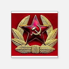 Soviet Union Red Star Rectangle Sticker
