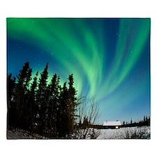 Aurora borealis in Alaska - King Duvet