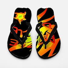 razzle dazzle art illustration Flip Flops