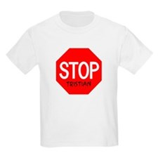 Stop Tristian Kids T-Shirt