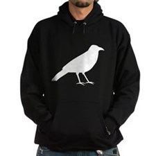 Crow in White. Hoodie
