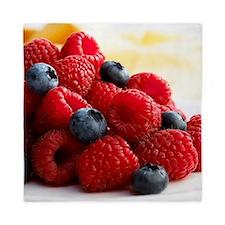 Blueberries and raspberries - Queen Duvet