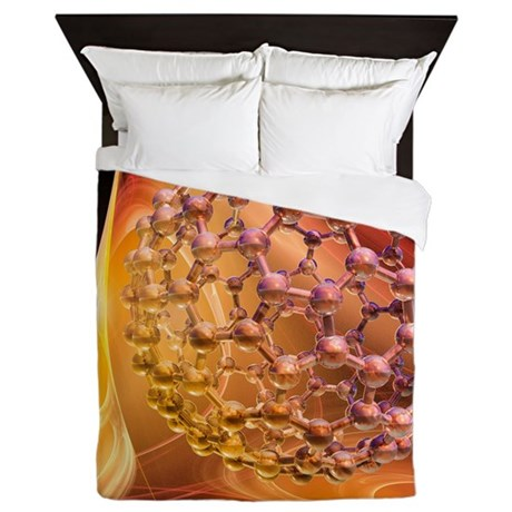 Buckyball molecule, artwork - Queen Duvet