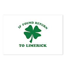 Limerick Ireland Clover Designs Postcards (Package