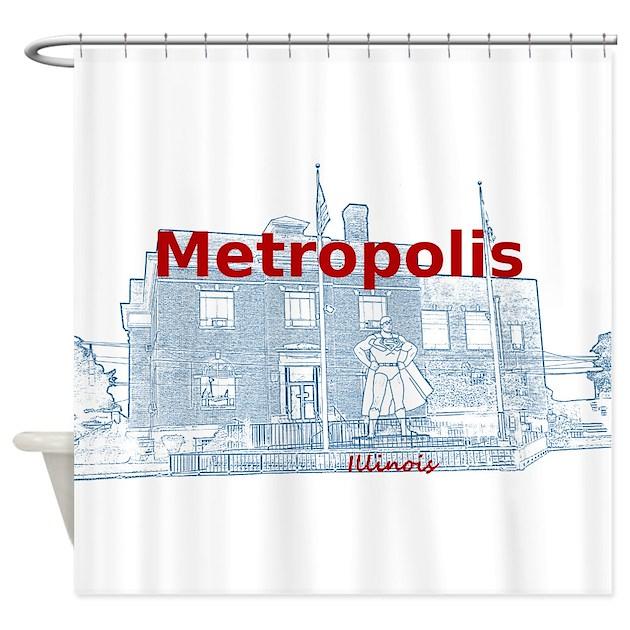 Metropolis Superman Shower Curtain By Superman Il