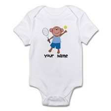 Personalized Tennis Monkey Infant Bodysuit