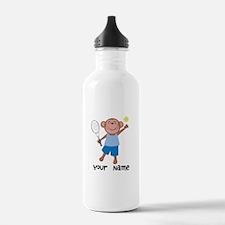 Personalized Tennis Monkey Water Bottle