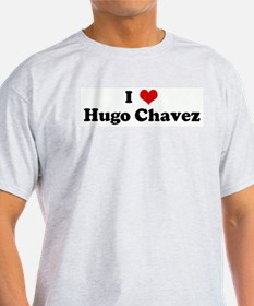 I Love Hugo Chavez Ash Grey T-Shirt