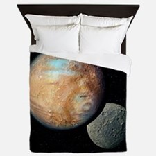Pluto and Charon - Queen Duvet