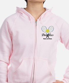 Personalized Tennis Doubles Zip Hoodie