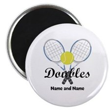Personalized Tennis Doubles Magnet