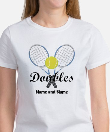 Personalized Tennis Doubles Women's T-Shirt