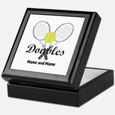 Personalized Tennis Doubles Keepsake Box